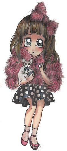@Lady__Fur @SamanthaDeReviziis Cartoon Version By Michela Gastaldi   #illustration #fur  www.welovefur.com