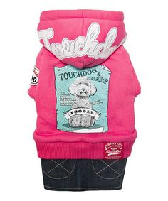 Another great find on #zulily! Pink One-Piece Hoodie & Denim Skirt for Dogs #zulilyfinds
