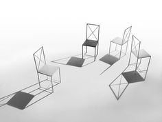 FLEXFORM MOKA chairs, designed by ASNAGO & VENDER in 1985.