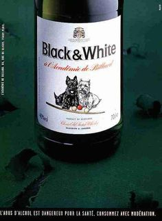 1998, Black And White Scotch Whisky Print Ad