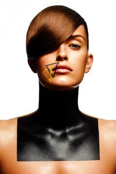 Beauty Story: Geometry Photographer: Christophe Donna Model: Petrine Houlberg Makeup Artist: Alexandra Leforestier Retoucher: Yelena Popova Amazing beauty story featuring model Petrine Houlberg with creative makeup by Alexandra Leforestier featuring geometric shapes over the models face in primary colors. Photography by Christophe Donna and retouching by Yelena Popova.