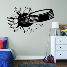 ALL HOCKEY STICKERS Name Wall Stickers, Custom Stickers, Wall Decals, Hockey Bedroom, Funny Hockey, Football Wall, Hockey Gifts, Personalized Football, Decorate Your Room