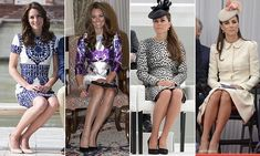 Kate, has developed a 'Duchess Slant' - a signature seated pose crucial for creating a ladylike silhouette and preserving her modesty while wearing dresses for public appearances. Duchess Kate, Duke And Duchess, Duchess Of Cambridge, British Celebrities, St Patricks Day Parade, Etiquette And Manners, Ladylike Style, Sitting Poses, Married Woman