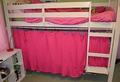 bottom bunk fort, Cool Indoor Playhouse Ideas for Kids, http://hative.com/cool-indoor-playhouse-ideas-for-kids/,