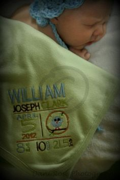 Birth Sampler Blanket