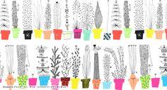 /Brand inspiration/ /Category: illustration, logo, product/ /Keyword:Lifestyle, green, plant, colorful/   Almedahls アルメダールス Olle Eksell オーレエクセル イタリアンフラワーシェルフ