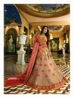 This lehenga is beautified with heavy embroidery work. Comes with a matching unstitched blouse and pure lycra dupatta. Lehenga Online, Party Wear Lehenga, Indian Ethnic Wear, Fashion Outfits, Icon Fashion, Lehenga Choli, Indian Dresses, Designer Wear, Style Icons