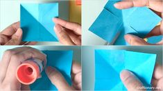 Origami tulip flower craft - Make stunning paper flowers - Craftionary . Nylon Flowers, Tulips Flowers, Colours That Go Together, Construction Paper Crafts, How To Make Paper Flowers, How To Make Origami, Burlap Flowers, Flower Tutorial, Handmade Flowers