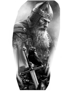 Norse Mythology Tattoo, Norse Tattoo, 3d Tattoos, Tattoos For Guys, Sleeve Tattoos, Tattoo Ink, Viking Warrior Tattoos, Viking Tattoo Sleeve, Gladiator Tattoo