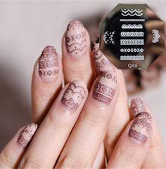 $2.99 Nail Art Stamp Template Elegant Lace Pattern QA6 - BornPrettyStore.com