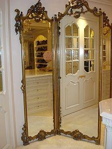 tri fold mirror