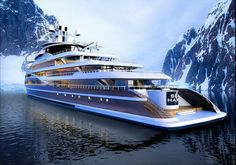 This is the Way to Travel Yacht Design, Boat Design, Super Yachts, Yachting Club, Bateau Yacht, Restaurant Hotel, Luxury Yacht Interior, Expedition Yachts, Grand Luxe