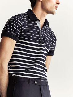 Smart Men, Polo Tees, Marco Polo, Striped Polo Shirt, Men's Fashion, Menswear, Stripes, Knits, T Shirt