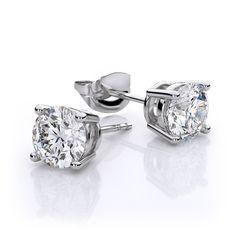 STUD EARRINGS REAL 18K YELLOW G//F GOLD LADIES GENUINE DIAMOND SIMULATED PAVE SET