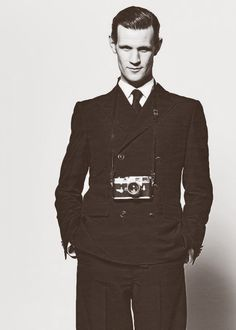 Matt Smith :)----everyone's just like OOOOH ITS MATT but this first thing that I think is OOOOH SHINY CAMERA.----you are a strange human. -----yes. Yes I am.