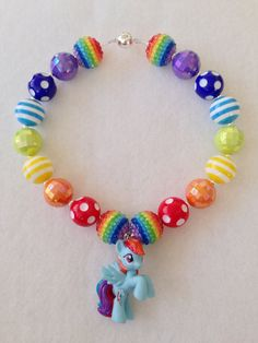 My Little Pony Necklace  Rainbow Dash by HotPinkNChocolate on Etsy, $20.00