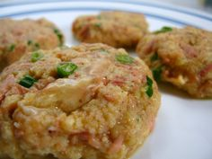 Weight Loss Recipe: Tuna Patties With Lemon Dill Sauce ~ Healthy Dinner Recipes visit http://helthydinnerreciepes.blogspot.com for more recipes and healthy food