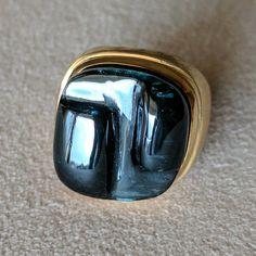 Burle Marx 18 Karat Gold Free (Form Forma Livre) Indicolite Tourmaline Ring by BurleMarxJewels