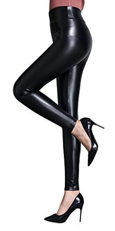 32d4a89e6a58e2 IRELIA Womens Sexy Faux Leather High Waisted Brushed Leggings Long Pants  Black #fashion #clothing #shoes #accessories #womensclothing #leggings  (ebay link)