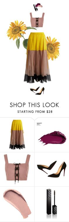 """""""Shining"""" by celiasoini ❤ liked on Polyvore featuring N°21, Urban Decay, River Island, Christian Louboutin, Burberry and Gucci"""