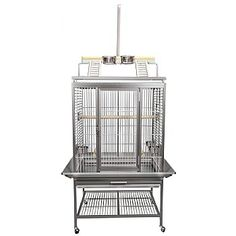 This King`s Aluminium Play Gym Top Parrot Cage is for and similar sized birds. It has a strong stainless steel coating and terrific features including feeders, perches and more. Monk Parakeet, Senegal Parrot, King Cage, Large Bird Cages, Online Pet Store, Pet Supply Stores, Play Gym, Gym Tops, Conure