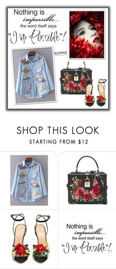 """""""Romwe"""" by alma01-1 ❤ liked on Polyvore featuring Dolce&Gabbana, Charlotte Olympia and WALL"""