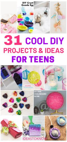 Easy Crafts For Teens, Easy Diy Crafts, Diy For Girls, Diy For Teens, Teen Crafts, Teen Diy, Diy Crafts Summer, Diy Crafts For School, Diy Crafts For Teen Girls