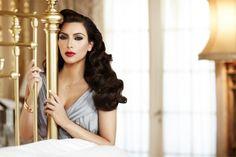 kim kardashian. classic makeup + fingerwaves (hair.).. ❥ classy.