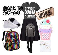 """back to school"" by gaspardhannah ❤ liked on Polyvore featuring George, Wildkin, Charlotte Russe and The North Face"