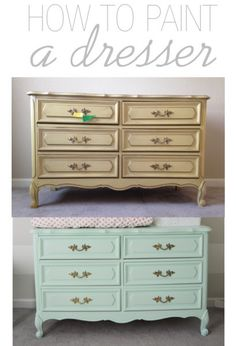 Detailed Instructions On How To Paint A French Provincial Dresser Without  Sanding Or Priming