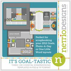 It's Goal-tastic Layered Template Pack by Nettio Designs Scrapbook Templates, Scrapbook Sketches, Photo A Day, Life Photo, Goals Template, Class Design, Project 365, Layout, Digital