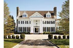 Georgian House, Exterior Greenwich, Connecticut/Abelow Sherman - Architects/Katch I.D. - Interiors