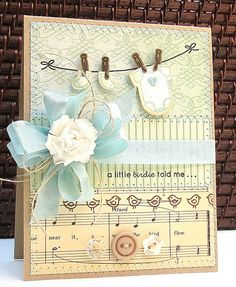 A Little Birdie Told Me Baby Card