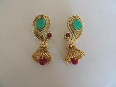 Large Jhumka Earrings | Click on image to zoom in