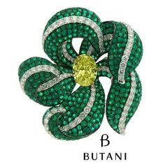 repost from @butanijewellery The enchanting secret garden of Butani finds a rare flower with Emerald green and diamond petals