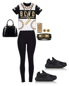 """""""1,000 followers"""" by trill-experts ❤ liked on Polyvore featuring мода, Chanel, NIKE, Moschino, Rebecca Minkoff, Relaxfeel, women's clothing, women's fashion, women и female"""