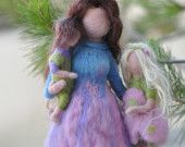 Needle felted Waldorf Tooth fairy -  Soft Sculpture--needle felt by Daria Lvovskymade to custom order. $35.00, via Etsy.