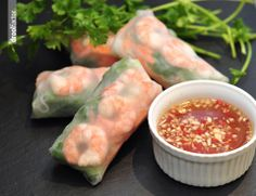 shrimp spring rolls. - one of my favorite items to order at Thai restaurants