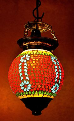 """Vintage Antique Hanging Ceiling Lamp Light Moroccan Swag Indian Pendant Lamp 13"""" #LalHaveli #Country"""