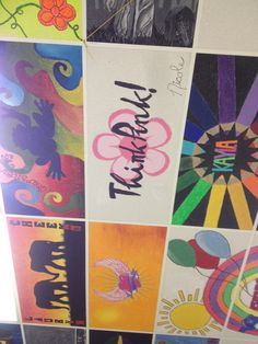 Tiles on my ceiling painted by my students-the entire room is complete.  It is amazing.