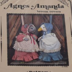 Vintage Animals Pattern Cottage Style Goose and by RosesandBees