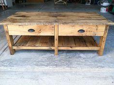 reclaimed wood coffee table by reclaimedgrain on Etsy, $400.00