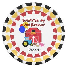 Personalized Farm 2nd Birthday paper plates cute and colorful great for the farm or  sc 1 st  Pinterest & Custom Blond Princess 2nd Birthday Paper Plates 9 Inch Paper Plate ...