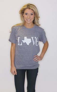 Bright color small or medium (depending on fit)---not grey   Riffraff | LOVE Texas Tri-Blend American Apparel - grey