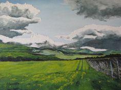 Canadian landscape oil painting, by Francois Fournier, Etsy.com