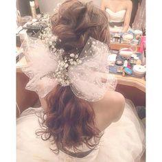 昨日の花嫁様の披露宴前のクイックチェンジです☺️✨ ・ #ブーケ #プレ花嫁 #卒花 #ウェディングドレス #ブライダルヘア #ブライダルヘアメイク #WD #CD