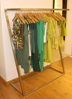 great clothes rack - but made out of wood