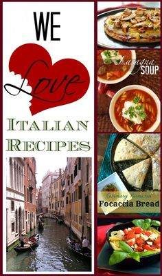 We Love Italian Recipes!  A collection of all our favorites, we take out Italian recipes very seriously.  :)