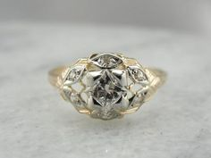 Stunning Early Retro Era Diamond Studded Cocktail Ring