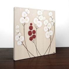 Acrylic Painting of Flowers  Original Canvas Art  by Amborela, $42.00